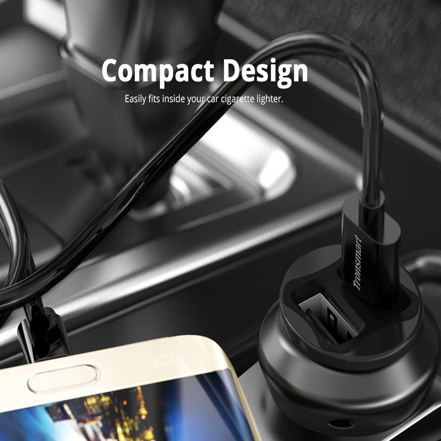 Tronsmart C24 Dual USB Автомобильное зарядное устройство USB зарядное устройство для телефона samsung для xiaomi для iphone 7 plus для телефона huawei