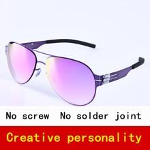 Pilot Brand Polarized sunglasses men sun glasses women screwless eyewear Fashional eyeglasses with original case
