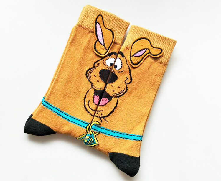 Marvel Men's Crew Socks Cartoon Puppy Pattern Breathable Comfortable Party Novelty Funny Socks Casual Fashion Socks