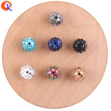 Cordial Design 100Pcs 12*14MM Jewelry Accessories/Crystal Bead/Polymer Clay Bead/Chunky Bead/DIY Bead/Hand Made/Earring Findings