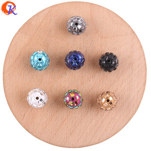 Image 1 - Cordial Design 100Pcs 12*14MM Jewelry Accessories/Crystal Bead/Polymer Clay Bead/Chunky Bead/DIY Bead/Hand Made/Earring Findings