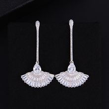 SisCathy 2019 Trendy AAA Clear Cubic Zirconia Dangle Drop Earrings for Women Trendy Party Bridal Wedding Jewelry Women Earrings цена