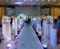 125cm fashion luxury acrylic crystal wedding road lead wedding centerpiece event party decoration/ wedding backdrop T stand