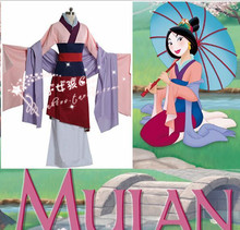 Free Shipping New 2015 Custom Made Fantasia Princess Mulan Halloween Costume Women Cosplay Adult Costumes