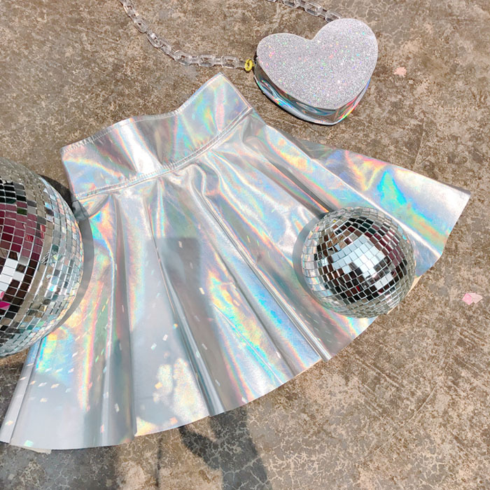 2019summer Women Harajuku Skirt Silver Holographic Hologram Metallic High Waist Tutu Skirt Kawaii Female Skirts Ball Gown To Prevent And Cure Diseases