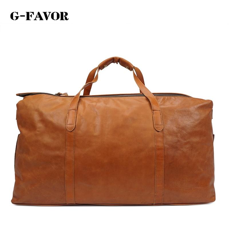 Large Capacity Men Travel Bag Retro Genuine Leather oiled leather duffel bag Big Travel Duffel Bag Zipper Crossbody Luggage Bag сумка для снаряжения loop dry duffel bag 90