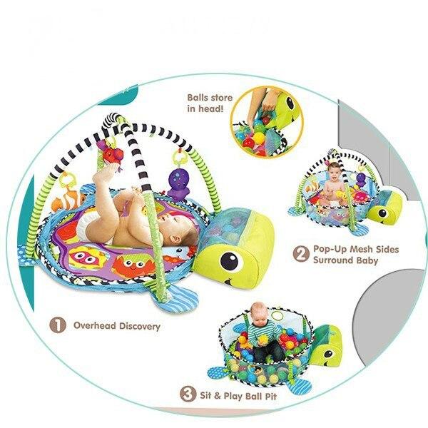 Lion bébé jouet bébé tapis de jeu 0-1 an jeu Tapete Infantil éducatif ramper tapis jouer Gym bande dessinée couverture balle Pit - 2