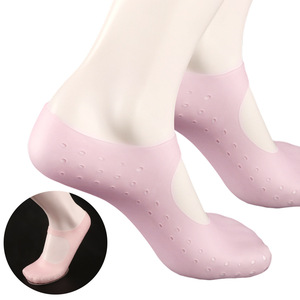 1 пара носки с гелевой подошвой, Силиконовая защита от боли, защита от трещин, увлажнение омертвевшей кожи, носки для ухода за ногами, инструм...