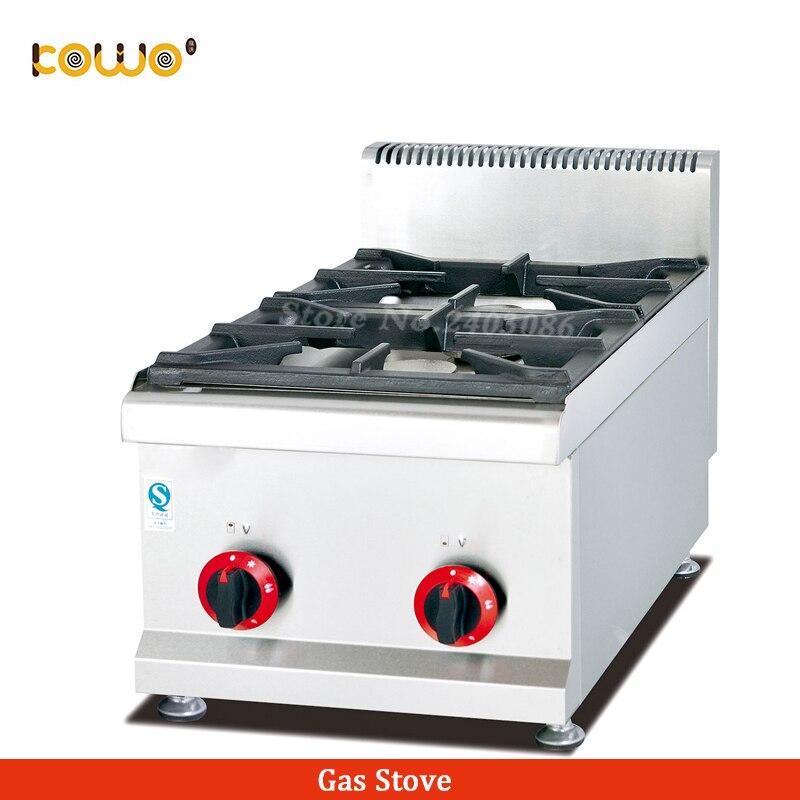 Коммерческая нержавеющая сталь 2 горелки lpg газовая плита столешница газовая плита кухонная техника