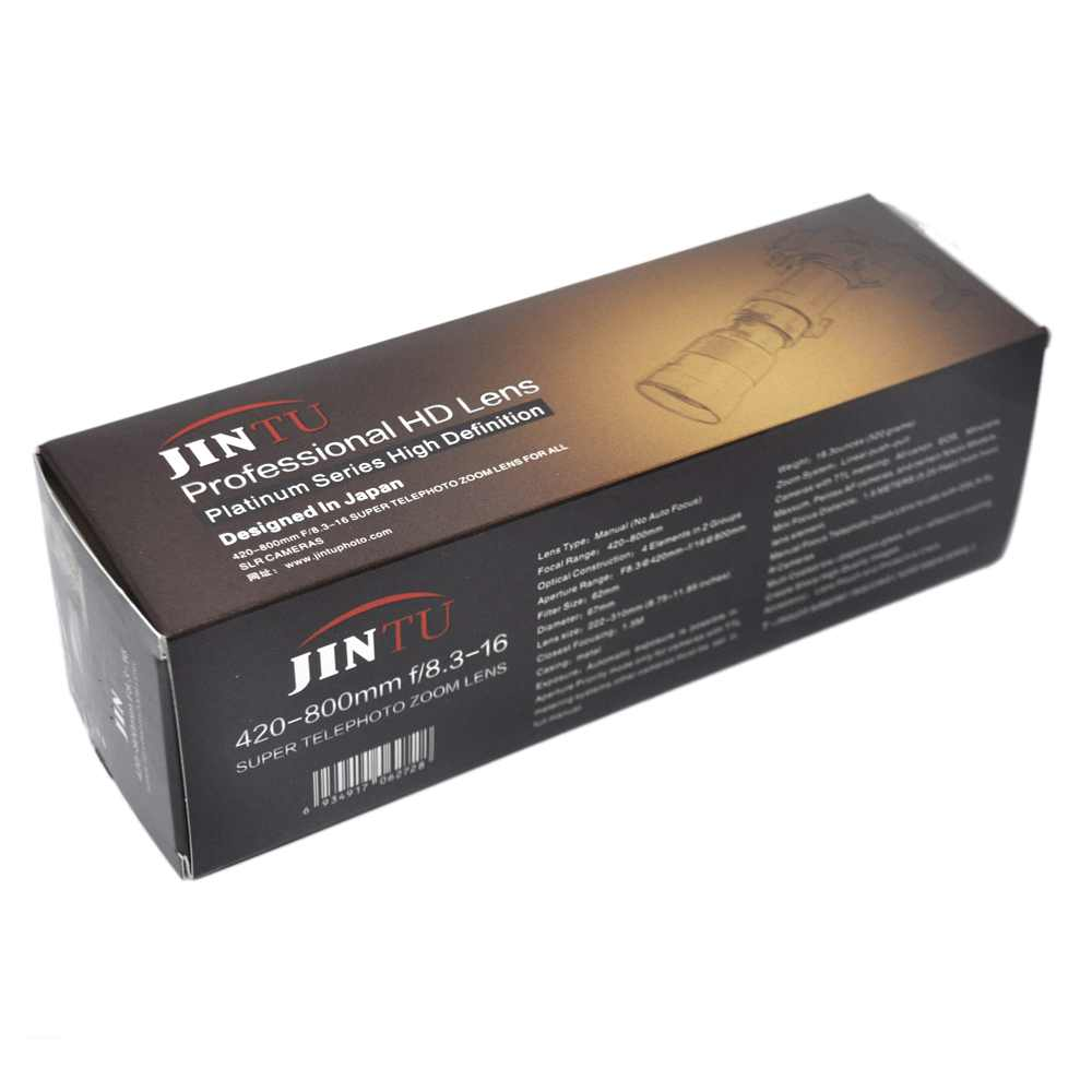 JINTU 420-1600mm F/8,3-16 телеобъектив с переменным фокусным расстоянием 2X телеконвертер объектив с фиксированным фокусным расстоянием для Canon EF EOS 80D 70D 60D 60Da 50D 7D 6D 5D 5Ds T6s T6i T6