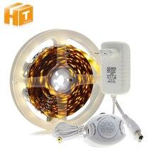 PIR Motion Sensor LED Strip Light DC12V 5050 + Adapter Switch for DIY Bed Closet Cabinet
