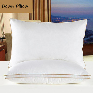 Image 4 - IHAD Bedding Down Pillow Home Textile Sleeping Pillows Goose feather Filling Cotton Fabric Soft Warm Healthy Care Neck  74X48CM