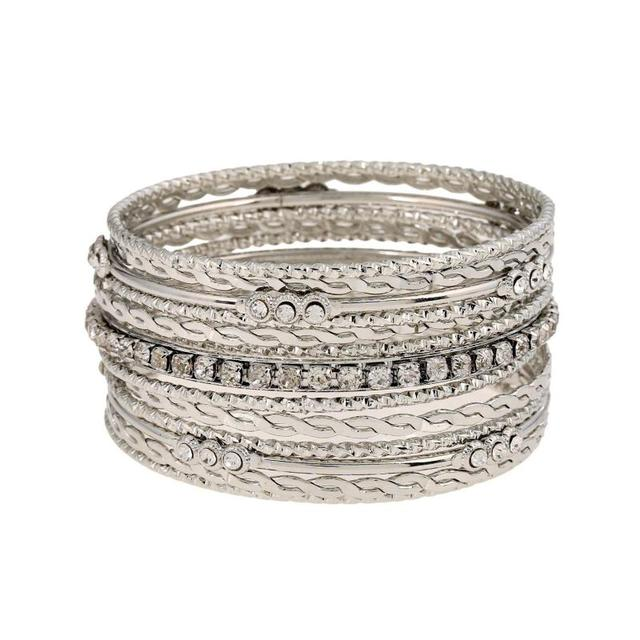 CAIER Fashion Silver Gold Plated Bracelets Bangles For Women Bangle Wholesale Gift Indian Jewelry Pulseira Feminina