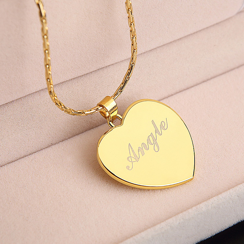 get cheap gold nameplate necklace aliexpress