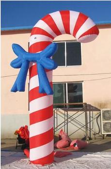 5m/16.4'H--Air Blown/ Inflatable Candy Cane Christmas Crutch Arch Advertising