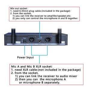 Image 3 - Freeboss FB U09 الطريق المزدوج الرقمية مكبر صوت لا سلكي ذو تردد فوق العالي مع 2 المعادن الأجهزة المحمولة