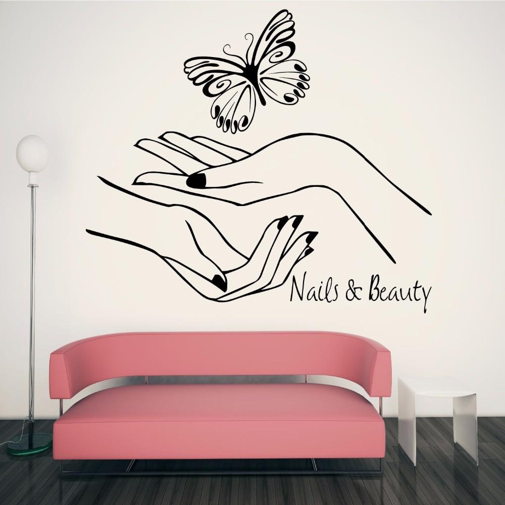 Nail beauty salon vinyl wall decal sticker polish manicure - Stickers deco salon ...