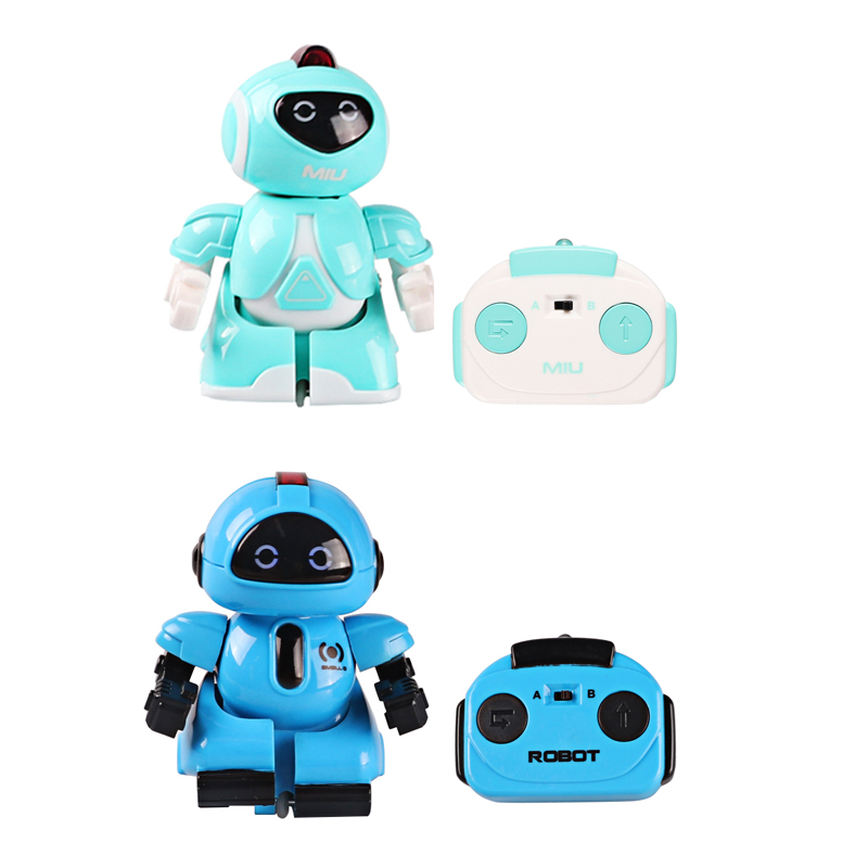 Pocket RC Battle Robot Interactive Mini Infrared Remote Control Robot Toys Family Games