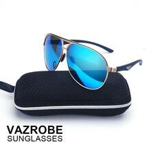 Vazrobe (150mm/160mm) Oversized Sunglasses Polarized Men Aviation Mirror Large Face Sun Glasses for Men's Driving Polarizing