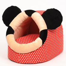 Warm Soft Fleece Bed with Cushion