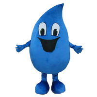 Adult Water Drop Mascot Costume,Free Shipping