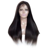 Царственный 150 плотность полный парики шнурка с ребенком волос бразильский Прямо Волосы remy предварительно сорвал Full Lace натуральные волосы