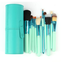 Professional 1Set Lot New 100 New 12 Pcs Set Pro Cosmetic Makeup Brushes Set Make Up