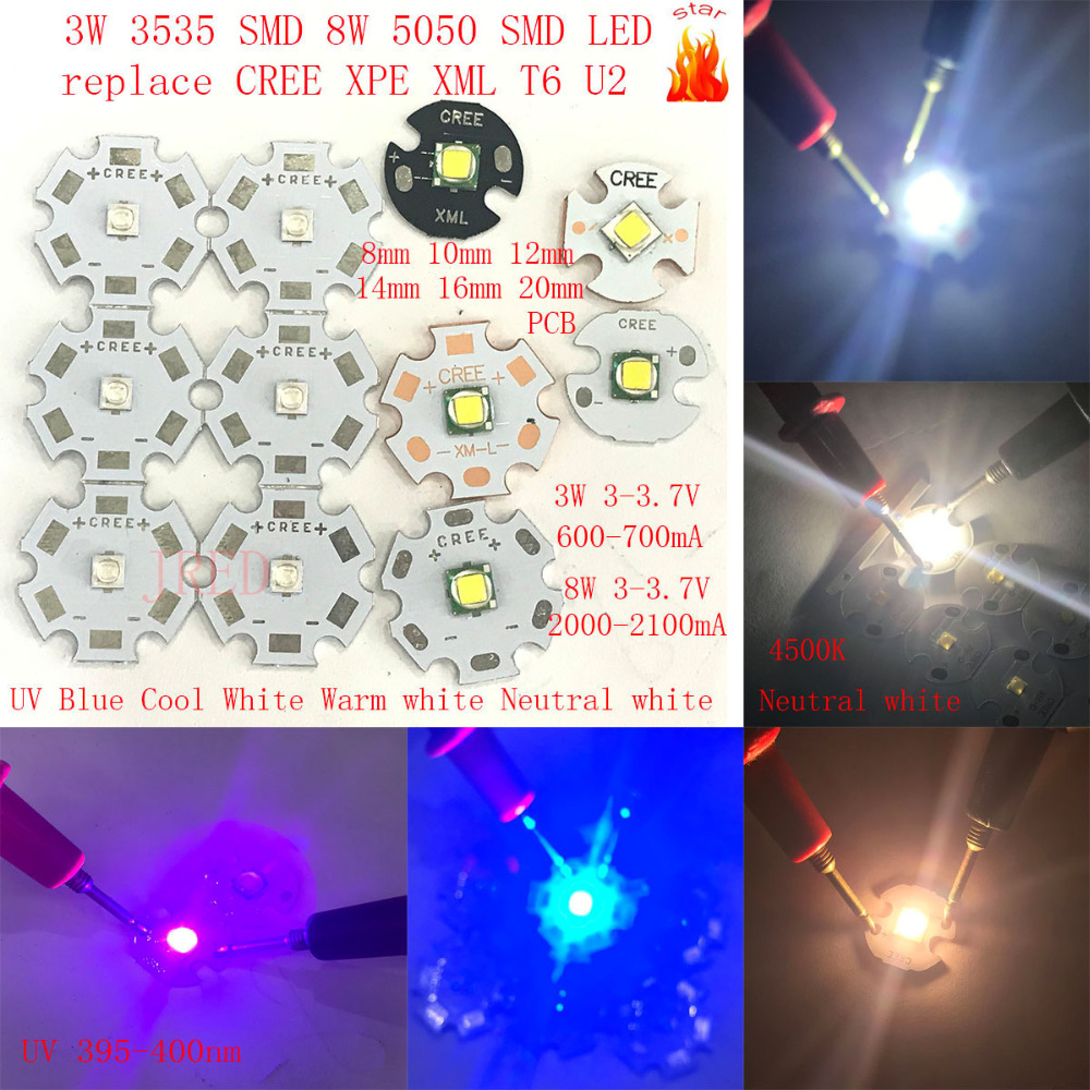 50pcs 3W UV 395-400nm 700mA 3.4-3.8V LED ultraviolet LED High Power lamp