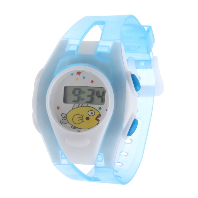Kids Children Watches Transparent Color Digital LED Alarm Date Sport Wrist Watch Silicone Sports Waterproof Watch Relogio Gift#W
