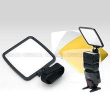 5 in1 флэш отказов диффузор Софтбоксы Рассеиватели для вспышки Отражатели + сумка для Canon 580EX II 580EX 430EX SB-800 SB-600 600 EX-RT AT30