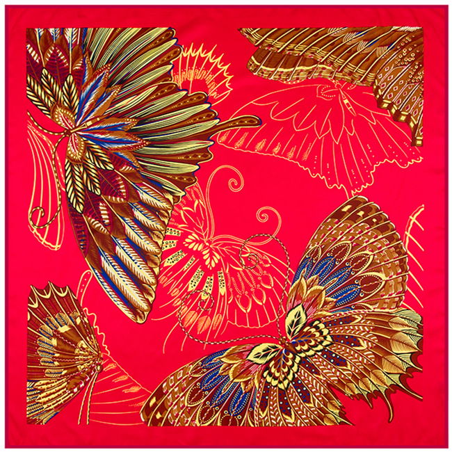 4f45ebe8f6b75 100cm 100cm Twill Silk stole Euro Brand French design sky Hofgarten palace  garden Printed Women Square Silk Scarves hijab A209-in Scarves from Women s  ...