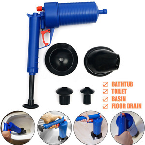 Image 3 - זרוק חינם בית גבוהה לחץ אוויר ניקוז Blaster משאבת בוכנת כיור צינור מסיר לסתום שירותים אמבטיה מטבח ערכה לניקוי