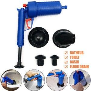 Image 3 - Drop Shipping Home wysokociśnieniowy powietrzny udrażniacz Blaster tłok pompy zlew rura płyn do udrażniania rur toalety łazienka zestaw do czyszczenia kuchni
