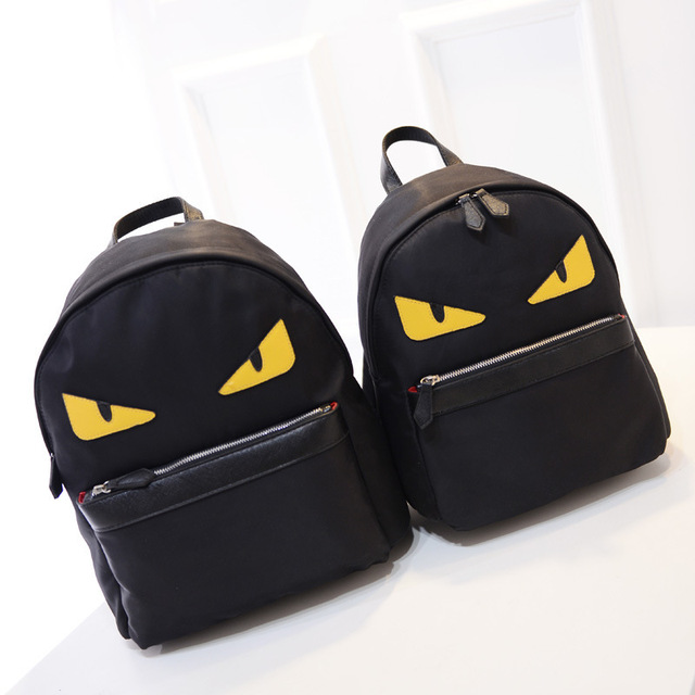 Designer Women Canvas Backpacks Cat Eyes Animal Printing School Bags For Teenagers  Girl Rucksack Laptop Bagpack Mochilas Z97B7 74287b4655060