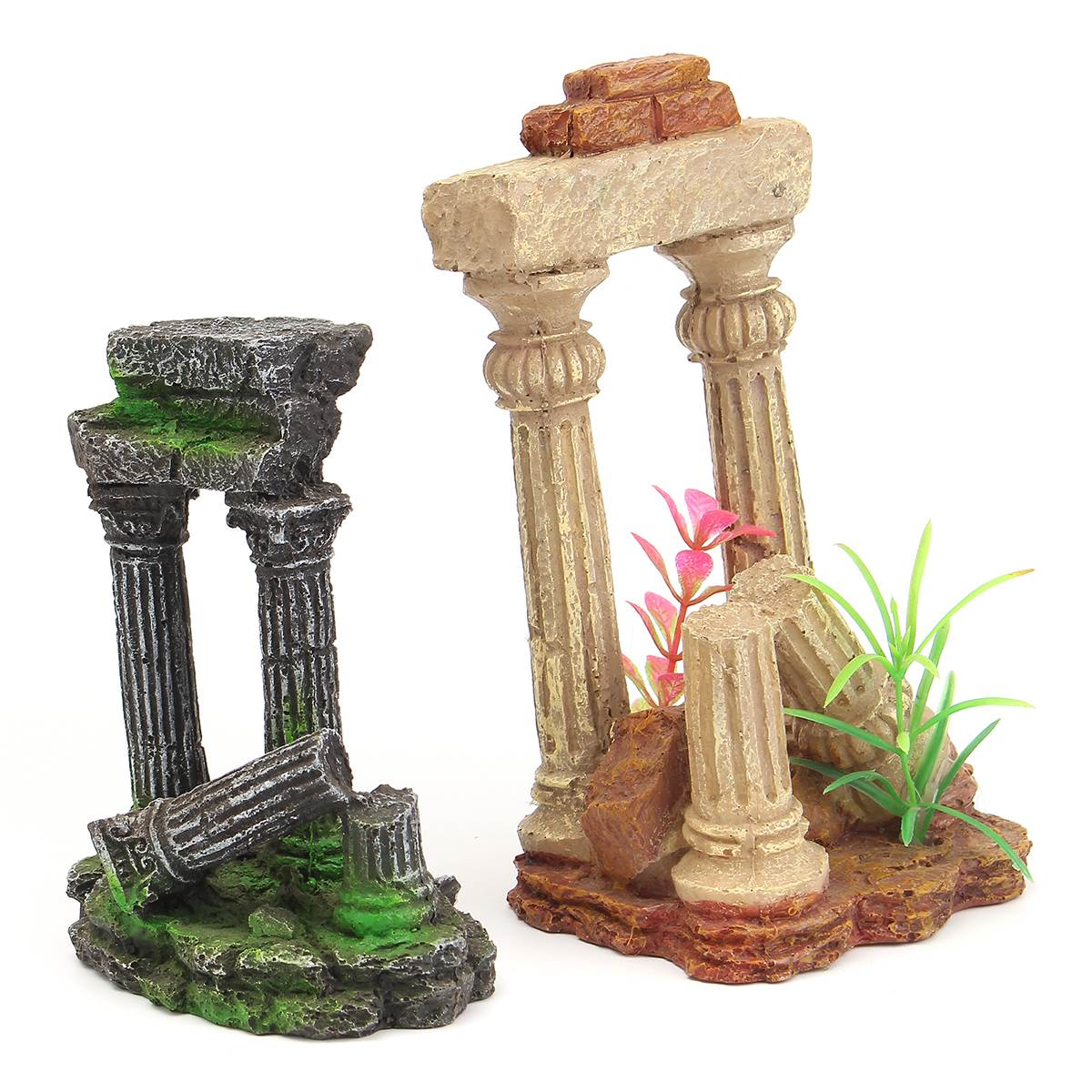 Decorative garden ornaments - Ancient Roman Ruins Garden Ornaments Decorations Castle Artificial Roman Column Ornament Rockery Resin Hiding Landscaping