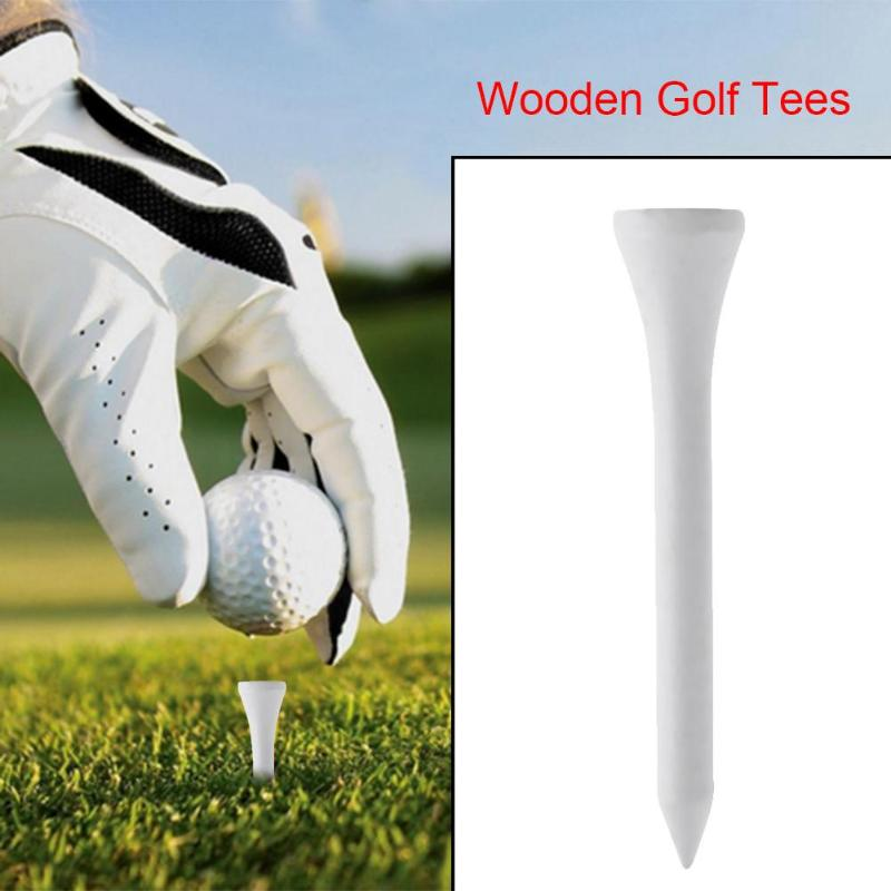 20pcs Golf Tees White 55mm Professional Golf Balls Holder Accessories Golf Training Aids For Glof Club Training Solid Wood