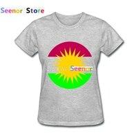 패션 스타일 여성 T 셔츠 인쇄 Kurdistan