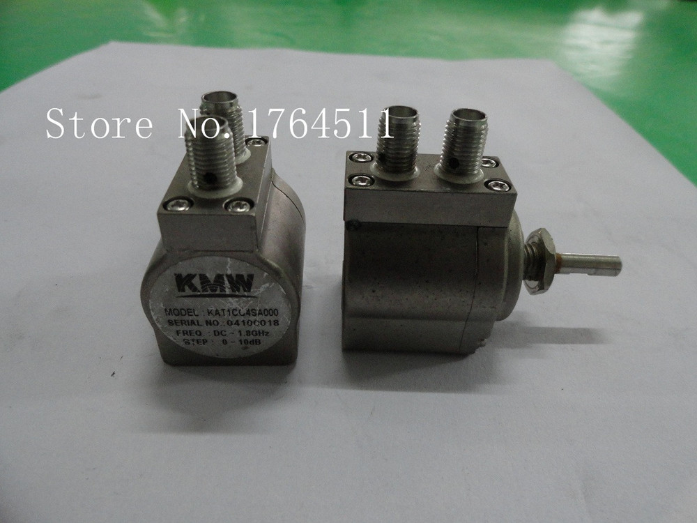 [BELLA] Hand Adjustable Step Attenuator KMW KAT1C04SA000 10dB DC-1.8GHz SMA  --2PCS/LOT