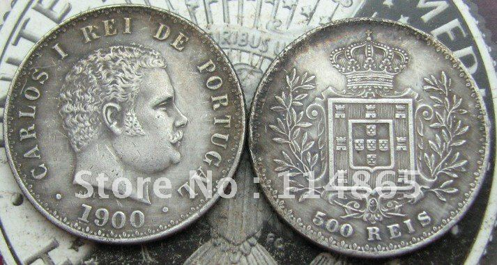 1900 PORTUGAL ,500 REIS COIN COPY commemorative coins-replica coins medal coins collectibles