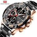 MINIFOCUS наручные часы для мужчин Топ бренд класса люкс известный мужской Кварцевые часы наручные кварцевые часы Relogio Masculino MF0198G. 02