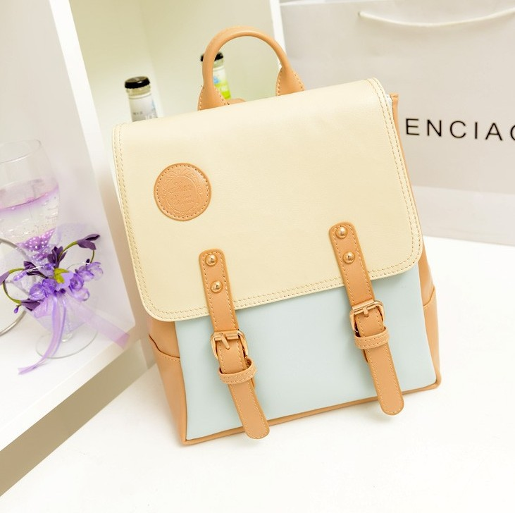 Candy Color Women Backpack Solid High Quality preppy style Cute Backpack Female sweet School Bags For