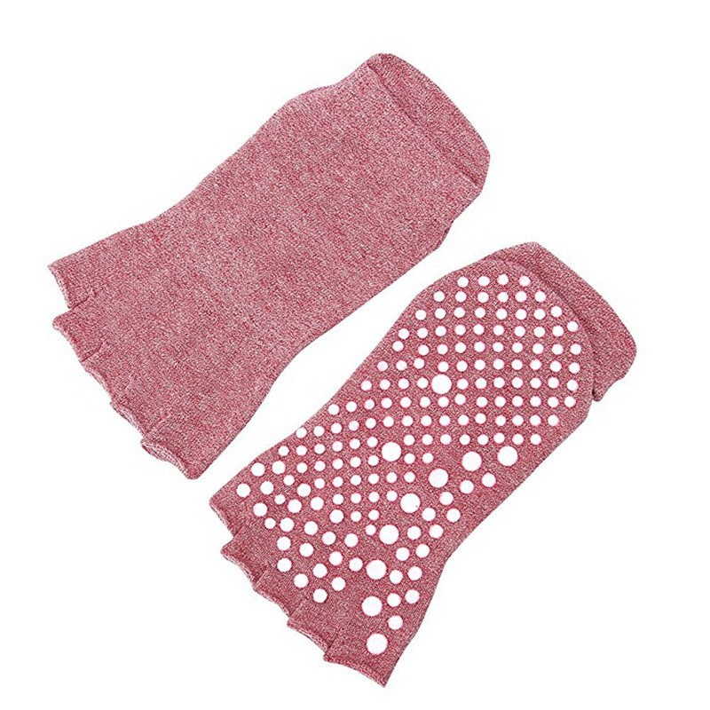 dedo do pé aberto respirável pilates meias