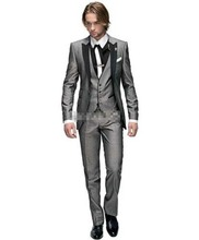 Selling One Button Groom Tuxedos Groomsmen Wedding Suits Best man