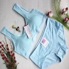 1PC Solid Teenage Girl Underwear Cotton Training Bra Running Yoga Bra for Girls Sports Teenage Girl Underwear Sports Bra 2017