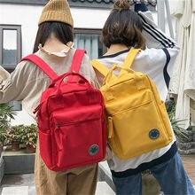 22f08b9e416b Osmond Women Yellow Red Back Packs Feminine Canvas Backpack For Teenager  Girls Casual Travel Mochila Satchel