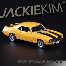 Carros vintage, chevrolet ke mailuo ss 1969, carro de liga de emulação de alta qualidade, puxar para trás brinquedos, livre