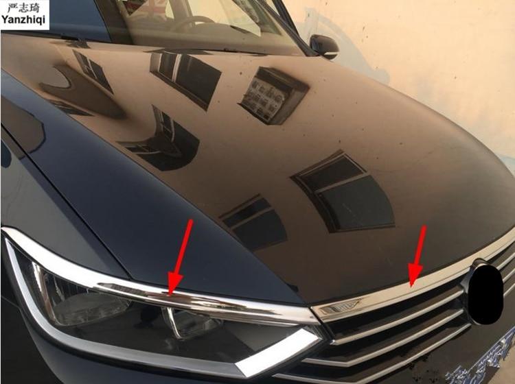 Нержавеющая сталь Передняя крышка капота гриль для губ формовочная крышка отделка бар гарнир сетка для 2016-2018 Фольксваген Пассат B8 седан