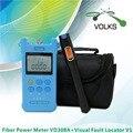 De fibra óptica de VD308A - 70 ~ 10dBm e V1 Visual Fault Locator 1 mW fibra óptica cabo Tester