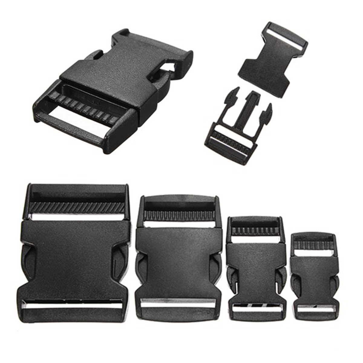 5PCS 20/25/40/50mm Plastic Hardware Dual Side Release Buckles Molle Tatical Backpack Belt Bag Parts Strap Webbing Release Clasp