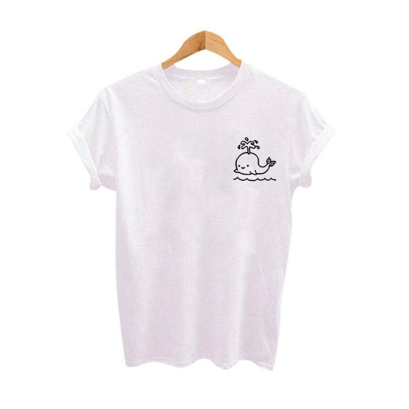 Carino Grafici Pocket Tee Donna Top maglietta di Estate 2017 Moda Slogan Donne maglietta Harajuku Fumetto Tumblr Abbigliamento